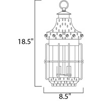 Maxim 30088CDCF Nantucket 3 Light 9 inch Country Forge Outdoor Hanging Lantern alternative photo thumbnail