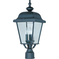 Maxim 3008BK Builder Cast 3 Light 24 inch Black Outdoor Pole/Post Lantern  photo thumbnail