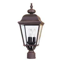 Maxim Lighting Builder Cast 3 Light Outdoor Pole/Post Lantern in Rust Patina 3008RP