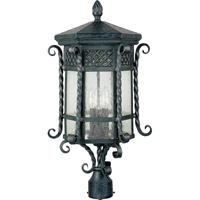 Scottsdale 3 Light 23 inch Country Forge Outdoor Pole/Post Lantern
