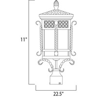 Maxim 30120CDCF Scottsdale 3 Light 23 inch Country Forge Outdoor Pole/Post Lantern alternative photo thumbnail