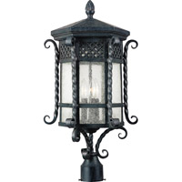 Scottsdale 3 Light 26 inch Country Forge Outdoor Pole/Post Lantern