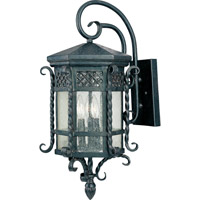 Scottsdale 3 Light 24 inch Country Forge Outdoor Wall Mount