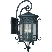 Scottsdale 5 Light 34 inch Country Forge Outdoor Wall Mount
