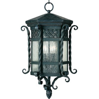 Scottsdale 3 Light 11 inch Country Forge Outdoor Hanging Lantern