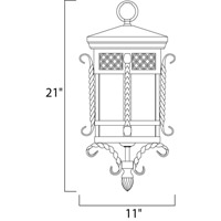 Maxim 30128CDCF Scottsdale 3 Light 11 inch Country Forge Outdoor Hanging Lantern alternative photo thumbnail