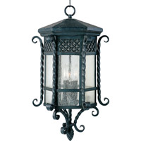 Scottsdale 3 Light 13 inch Country Forge Outdoor Hanging Lantern