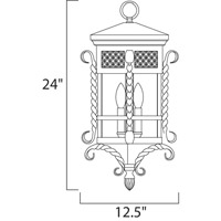 Maxim 30129CDCF Scottsdale 3 Light 13 inch Country Forge Outdoor Hanging Lantern alternative photo thumbnail