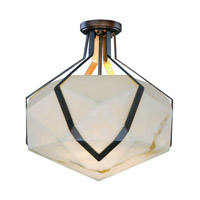 Maxim 30140BZGTGLD Boulder LED 20 inch Bronze Gilt and Gold Semi-Flush Mount Ceiling Light