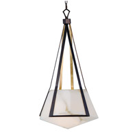 Boulder LED 20 inch Bronze Gilt and Gold Single Pendant Ceiling Light