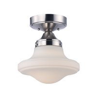 Maxim 30240SWSN New School LED 11 inch Satin Nickel Flush Mount Ceiling Light