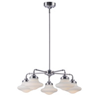 New School LED 28 inch Satin Nickel Chandelier Ceiling Light