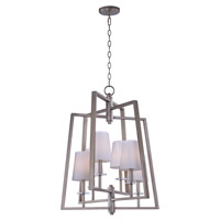 Swing 6 Light 24 inch Platinum Dusk Chandelier Ceiling Light