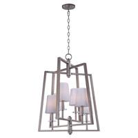 Maxim 30253WTPD Swing 6 Light 24 inch Platinum Dusk Chandelier Ceiling Light