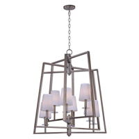 Swing 8 Light 30 inch Platinum Dusk Chandelier Ceiling Light