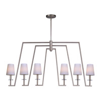 Swing 6 Light 48 inch Platinum Dusk Linear Pendant Ceiling Light