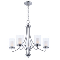 Mod LED 26 inch Satin Nickel Chandelier Ceiling Light