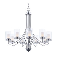Mod LED 31 inch Satin Nickel Chandelier Ceiling Light