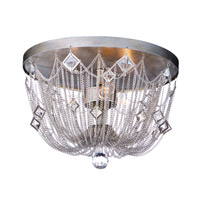 Maxim 30270SM Alessandra 3 Light 15 inch Silver Mist Flush Mount Ceiling Light