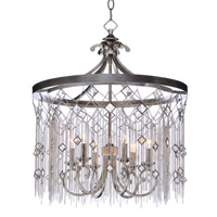 Maxim 30275SM Alessandra 6 Light 24 inch Silver Mist Chandelier Ceiling Light