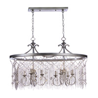 Maxim 30277SM Alessandra 8 Light 16 inch Silver Mist Chandelier Ceiling Light