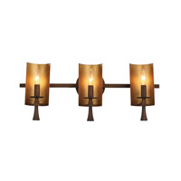 Maxim 30293CHBGLD Candella 3 Light 24 inch Chestnut Bronze and Gold Bath Vanity Wall Light