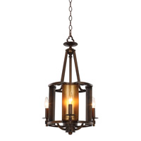 Maxim 30294CHBGLD Candella 4 Light 14 inch Chestnut Bronze and Gold Chandelier Ceiling Light