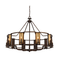 Maxim 30297CHBGLD Candella 10 Light 42 inch Chestnut Bronze and Gold Chandelier Ceiling Light