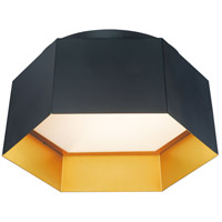 Maxim 30330BKGLD Honeycomb LED 16 inch Black and Gold Flush Mount Ceiling Light