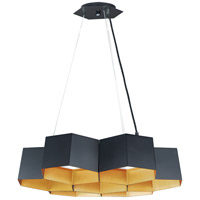 Maxim 30337BKGLD Honeycomb LED 23 inch Black and Gold Chandelier Ceiling Light