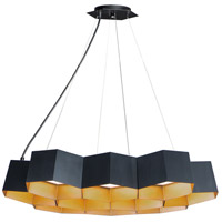 Maxim 30338BKGLD Honeycomb LED 23 inch Black and Gold Pendant Ceiling Light