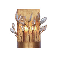 Maxim 30443CGGL Crystal Garden 2 Light 9 inch Gold Leaf Bath Vanity Wall Light