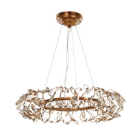 Crystal Garden 8 Light 28 inch Gold Leaf Multi-Light Pendant Ceiling Light