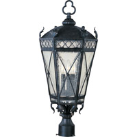Maxim 30451CDAT Canterbury 3 Light 27 inch Artesian Bronze Outdoor Pole/Post Lantern photo thumbnail