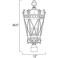 Maxim 30451CDAT Canterbury 3 Light 27 inch Artesian Bronze Outdoor Pole/Post Lantern alternative photo thumbnail