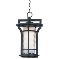 Maxim Lighting Oakville 1 Light Outdoor Hanging Lantern in Black Oxide 30488WGBO