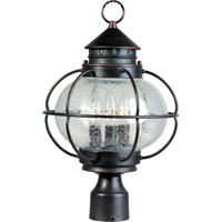 Maxim 30500CDOI Portsmouth 3 Light 16 inch Oil Rubbed Bronze Outdoor Pole/Post Lantern