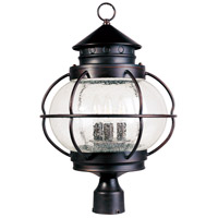 Maxim 30501CDOI Portsmouth 3 Light 22 inch Oil Rubbed Bronze Outdoor Pole/Post Lantern