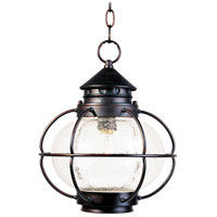 Maxim 30506CDOI Portsmouth 1 Light 12 inch Oil Rubbed Bronze Outdoor Hanging Lantern