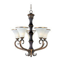 Maxim Lighting Suave 5 Light Single Tier Chandelier in Newbury Brass 30515FLNB
