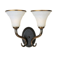 Maxim Lighting Suave 2 Light Wall Sconce in Newbury Brass 30518FLNB photo thumbnail