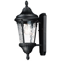 Maxim 3053WGBK Sentry 1 Light 16 inch Black Outdoor Wall Mount