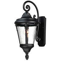 Maxim 3054WGBK Sentry 1 Light 22 inch Black Outdoor Wall Mount