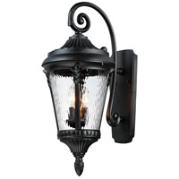 Maxim 3055WGBK Sentry 3 Light 26 inch Black Outdoor Wall Mount