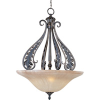 Maxim Lighting Bordeaux 3 Light Pendant in Golden Noir 30703MCGN
