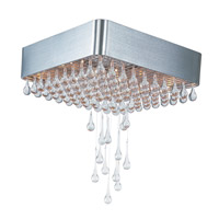 Maxim 30720CLAL Drops 9 Light 18 inch Brushed Aluminum Flush Mount Ceiling Light