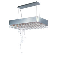Drops 15 Light 16 inch Brushed Aluminum Pendant Ceiling Light