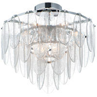 Maxim 30730CLWTPC Glacier 9 Light 24 inch White and Polished Chrome Flush Mount Ceiling Light