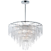 Maxim 30737CLWTPC Glacier 19 Light 32 inch White and Polished Chrome Chandelier Ceiling Light