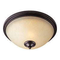 Richmond 2 Light 14 inch Colonial Umber Flush Mount Ceiling Light